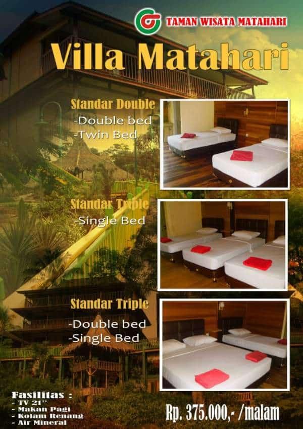 Hotel Dan Villa Dekat Taman Wisata Matahari